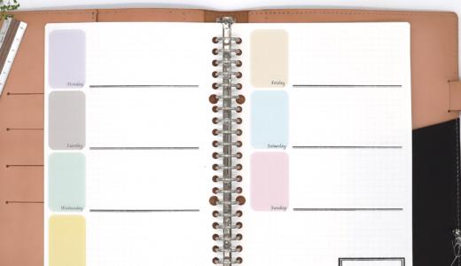 【商品紹介】メイクパレット風デザインが可愛いウィークリーリフィル